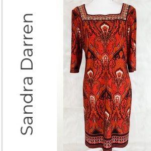 SANDRA DARREN Vibrant Embellished Shift Dress 6